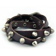 Кожаный браслет Шипы